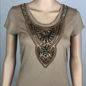 Cache Beaded Style Top T46